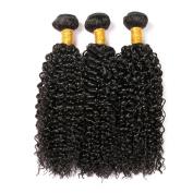 CLAROLAIR Brazilian Virgin Hair Unprocessed Brazilian Virgin Human Hair Weave Brazilian Unprocessed Virgin Kinky Curly 3pcs/Pack Mixed Length 20cm - 70cm Natural Colour (100+/-5g)/pc