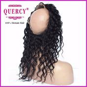 Quercy Hair 360 Lace Frontal Closure Virgin Hair Deep Wave Natural Hairline Lace Band Frontal Bleached Knot Pre Plucked With Baby Hair