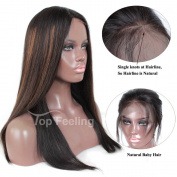 TopFeeling Brazilian Straight Hair Glueless Lace Front Human Hair Wigs #1b/30Highlight Ombre Colour Wigs For Black Women