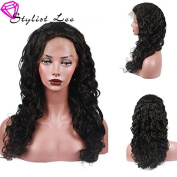 StylistLee 130% Density Loose Curly Wave Glueless Full Lace Wigs Free Part 8A Brazilian Virgin Human Hair Natural Hairline Bleached Knot Wigs For Women