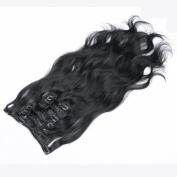 Furice 100% Real Remy Clip in Hair Extensions 50cm 100g/pack Natural Black Hair Extension Curly Wave Clips in Hair Extension