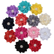 Deercon 13 Colours Multi-layer Cute Hair Clips with Diamond earl for Kids Childrebn Girls