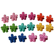 Bzybel 14pcs Baby Girls Cute Sunflower Hair Snaps Clips Hair Styling Accessories