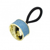 Bingirl Punk Style Hair Cuff Ponytail Holder Elastic Rope Hair Tie Hair Band Glitter Circle Hair Ring For Women
