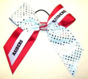 Custom Mascot Large Flip Sequin Hair Bow, Made in the USA, Pick your Mascot & Colours, Black Pony Band or French Clip