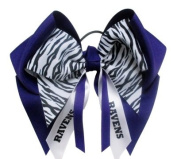 Custom Mascot Extra Large Hair Bow with Mini Zebra and Streamer, Made in the USA, Pick your Mascot & Colours, Black Pony Band or French Clip