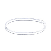 3 mm Clear Elastic Bands Hair Rubber Bands, 500 Pieces