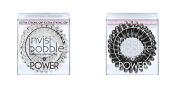 Crystal Clear And Black Power Hair Tie Bundle