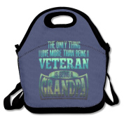 More Than Being A Veteran Is Grandpa Lunch Bag Adjustable Strap