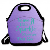 Leave A Little Sparkle Wherever You Go Lunch Bag Adjustable Strap