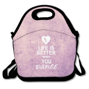 Life Is Better When You Dance Lunch Bag Adjustable Strap