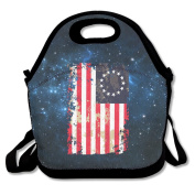 Land Of The Free Because Of The Brave Lunch Bag Adjustable Strap