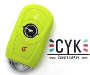 Lime Green Silicone Key Cover For Vauxhall Adam Astra 5 x Folia Insignia B D K J GTC Corsa E Case