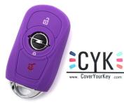 Key Case Vauxhall Adam Astra 5 x Folia Insignia B D K J GTC Corsa E Case Silicone Purple