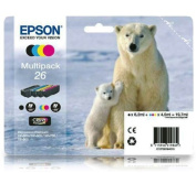 C13T26164010 Original 4 Item Multipack 26 Series Ink Cartridges Polar Bear compatible with compatible with compatible with compatible with compatible with compatible with compatible with compatible with compatible with compatible with compatible with Epso
