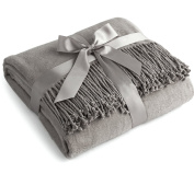 Luxury Pure 100% Mulberry Silk Throw, Genuine Natural 100% Silk Oversized Super Soft Plush Blanket in Ivory or Beige