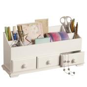Desk Drawer & Makeup Storage Organiser, White