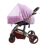 Large Baby Stroller Mosquito Net Diameter 150 cm Bee Insect Bug Mesh Full Cover Protection Dense Universal Insect Net for Infants Pushchairs Prams Bassinet Buggies, Purple