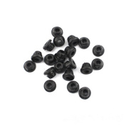 Lurry 100pcs Black Tattoo Machine Needles Rubber Nipples Tattoo Supplies Accessories