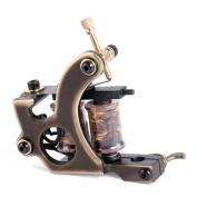 Solong Tattoo Custom Brass Tattoo Machine Gun Handmade 12 Wrap Pure Copper Coils for Liner M202-1