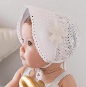 Baby Soft Cotton Bucket Hat Floral & Solid colour Double Use Korean Infant Sun Beach Cap for Newborn Girls