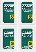 Derby Extra Double Edge Safety Razor Blades, 20 blades