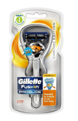 Gillette Fusion Proglide Flexball, Chrome Edition, 1 Razor with 2 Cartridges + Makeup Blender