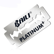 BAILI Platinum+ Double Edge Safety Razor Blades 5 Count Sharp and Durable