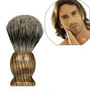 FTXJ Pure Badger Hair Mens Shaving Brush Striples Wood Handle Shave Barber