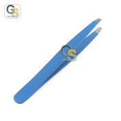 G.S PROFFESIONAL BLUE colour EYEBROW TWEEZER SLANTED HAIR BEAUTY WOMAN BEAUTY MAKEUP BEST QUALITY