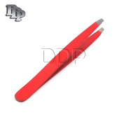 DDP PROFFESIONAL RED colour EYEBROW TWEEZER SLANTED HAIR BEAUTY WOMAN BEAUTY MAKEUP