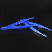 10pcs Disposable Medical Tweezers Small Plastic Tweezers Blue