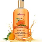 St.Botanica Mandarin & Cypress Luxury Shower Gel - Mandarin & Cypress Oils Body Wash - 300 ml