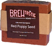 Brewtastic Soaps Wine Soap, Poppy, Red