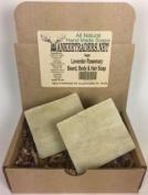 Lavender and Rosemary, Beard, Body & Hair Soap, Handmade & Vegan / 2 Bars