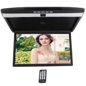 HD 43cm Digital TFT Monitor Car Roof Mount Display for cars Flip Down Monitor built-in FM Modulator Overhead player USB SD 2 Video input