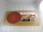 Over-the-Sink Bamboo Cutting Board with Colander, Fits Over Most Sinks with Free Standing Removable and Collapsible Strainer - Made with Durable Anti-Microbial Bamboo - by Island Bamboo