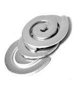 NinjaCrafters Aluminium Spiral Stamping Blank, pack of 10 or 25, Ready to Stamp Swirl Shape with Pre-drilled Hole - 16g (.050) Hypoallergenic, Tarnish-free 1100 Aluminium