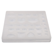 Jili Online Silicone Pendant DIY Moulds for Resin Jewellery Making Craft Tools Tray Moulds