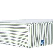 KicKee Pants Print Fitted Crib Sheet, Boy Fresh Water Stripe