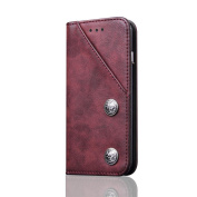 Luxury Flip Leather Wallet Case Skin Cover For for Samsung Galaxy S8 Plus 16cm ,Tuscom