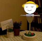 Cute Scarecrow LED Night Light Baby Kids Bedroom USB Light Bedside Desk Lamp Decoration White Light