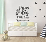Dream Big Little One Nursery Wall Decal Quote - Wall Decal Kids Room Decor - Boho Baby Nursery Wall Decor- Wall Decals Nursery Bedroom