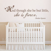 BATTOO And though she be but little she is fierce wall decal - girls room decal - girls nursery wall decal - Shakespeare quote wall decal