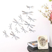 AxiEr 12pcs 3D DIY Decor Dragonfly Home Party Wall Stickers PVC Art Decal doors Sticker