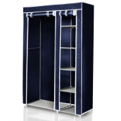 Folding Wardrobe Suitable for Camping 175 x 110 x 46 with Clothes Rail