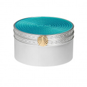 Vera Wang by Wedgwood – Silver Plated With Love Treasures Aqua Seashell Gift Box