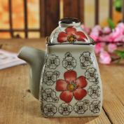 ceramic Spice jar/Oiler bottle of soy sauce in Japanese style/sealed jar in the kitchen/under glaze sauce bottles/hand-painted bottle liquid sauce-D