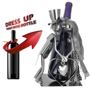 BerkeleyDesigns Wedding Day kissing couple Gift for Wine Lover Handmade of Recycled Metal