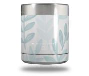 Skin Decal Wrap for Yeti Rambler Lowball - Watercolour Leaves Blues by WraptorSkinz